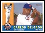 2009 Topps Heritage #289  Carlos Delgado  Front Thumbnail