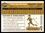 2009 Topps Heritage #329  Edwin Encarnacion  Back Thumbnail