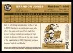 2009 Topps Heritage #246  Brandon Jones  Back Thumbnail