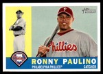 2009 Topps Heritage #238  Ronny Paulino  Front Thumbnail