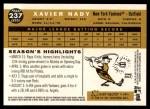 2009 Topps Heritage #237  Xavier Nady  Back Thumbnail