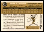 2009 Topps Heritage #252  Brian Bannister  Back Thumbnail