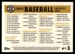 2009 Topps Heritage #413   Royals Team Checklist Back Thumbnail