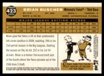 2009 Topps Heritage #423  Brian Buscher  Back Thumbnail