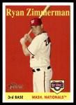 2007 Topps Heritage #98 YN Ryan Zimmerman   Front Thumbnail