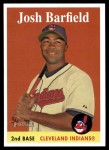 2007 Topps Heritage #62  Josh Barfield  Front Thumbnail