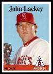 2007 Topps Heritage #358  John Lackey  Front Thumbnail