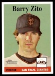 2007 Topps Heritage #379  Barry Zito  Front Thumbnail