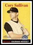 2007 Topps Heritage #286  Cory Sullivan  Front Thumbnail