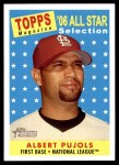 2007 Topps Heritage #476   -  Albert Pujols All-Star Front Thumbnail