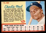 1962 Post #102  Charlie Neal   Front Thumbnail