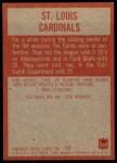 1965 Philadelphia #155   St Louis Cardinals  Back Thumbnail