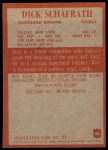 1965 Philadelphia #40  Dick Schafrath  Back Thumbnail