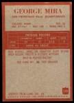 1965 Philadelphia #179  George Mira  Back Thumbnail