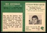1966 Philadelphia #150  Roy Jefferson  Back Thumbnail