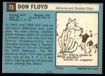 1964 Topps #73  Don Floyd  Back Thumbnail