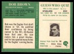 1966 Philadelphia #134  Robert Brown  Back Thumbnail