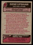 1977 Topps #415  Gene Upshaw  Back Thumbnail