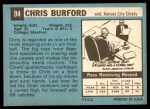 1964 Topps #94  Chris Burford  Back Thumbnail