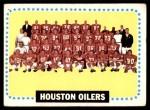 1964 Topps #88   Houston Oilers Team Front Thumbnail