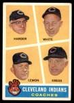 1960 Topps #460   -  Mel Harder / Jo Jo White / Bob Lemon / Ralph Kress Indians Coaches Front Thumbnail