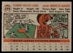 1956 Topps #295  Clem Labine  Back Thumbnail