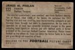 1952 Bowman Large #122  James Phelan  Back Thumbnail