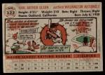 1956 Topps #322  Karl Olson  Back Thumbnail