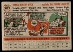 1956 Topps #303  Jim Dyck  Back Thumbnail