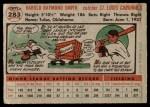 1956 Topps #283  Hal R. Smith  Back Thumbnail