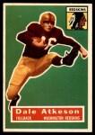1956 Topps #109  Dale Atkeson  Front Thumbnail