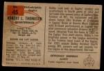 1954 Bowman #45  Bob Thomason  Back Thumbnail