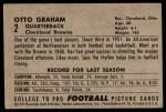 1952 Bowman Large #2  Otto Graham  Back Thumbnail