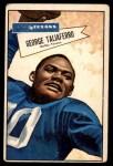 1952 Bowman Large #89  George Taliaferro  Front Thumbnail