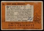 1956 Topps Davy Crockett #36   Don't Move Back Thumbnail