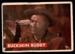 1956 Topps Davy Crockett Green Back #1   Buckskin Buddy  Front Thumbnail