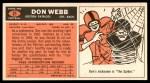 1965 Topps #21  Don Webb  Back Thumbnail