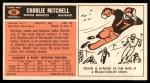 1965 Topps #60  Charlie Mitchell  Back Thumbnail