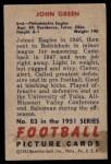 1951 Bowman #83  John Green  Back Thumbnail