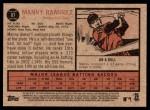 2011 Topps Heritage #87  Manny Ramirez  Back Thumbnail