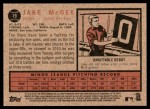 2011 Topps Heritage #19  Jake McGee   Back Thumbnail