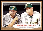 2011 Topps Heritage #127   -  Dallas Braden / Trevor Cahill Pride of the A's Front Thumbnail