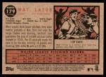 2011 Topps Heritage #179  Mat Latos  Back Thumbnail