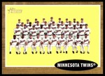 2011 Topps Heritage #98   Twins Team Front Thumbnail