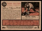 2011 Topps Heritage #190  Todd Helton  Back Thumbnail