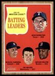 2011 Topps Heritage #51   -  Josh Hamilton / Miguel Cabrera / Joe Mauer / Adrian Beltre AL Batting Leaders Front Thumbnail