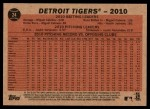 2011 Topps Heritage #24   Tigers Team Back Thumbnail