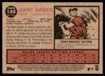 2011 Topps Heritage #148  Jonny Gomes  Back Thumbnail