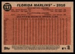 2011 Topps Heritage #192   Marlins Team Back Thumbnail