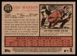 2011 Topps Heritage #253  Lou Marson  Back Thumbnail